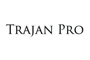 Font Sample - Trajan Pro