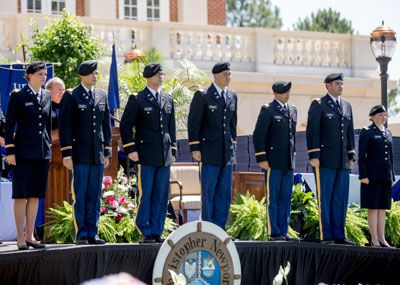 Cadet induction at Commencement 2016