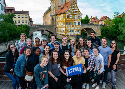 Study abroad group in Bamberg, Germany
