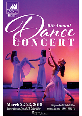 9th Annual Dance Concert poster