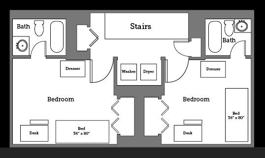 CNU Landing upstairs layout