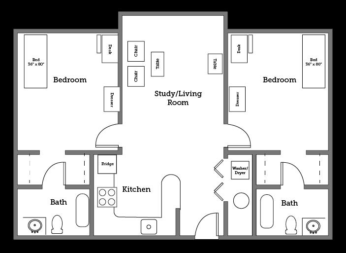 CNU Village two room layout