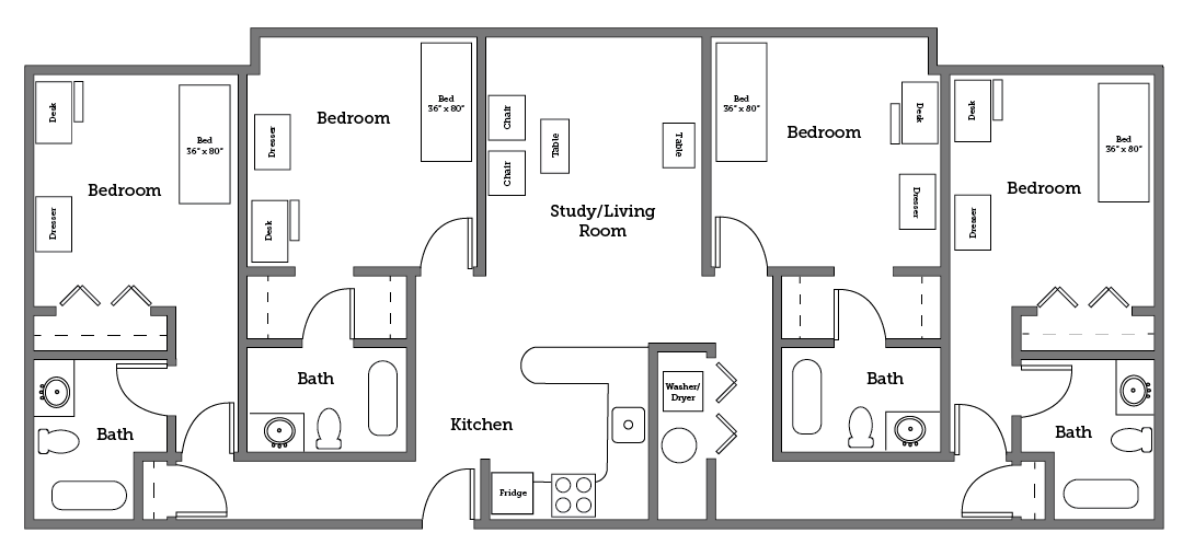 Cnu Village Four Room Layout
