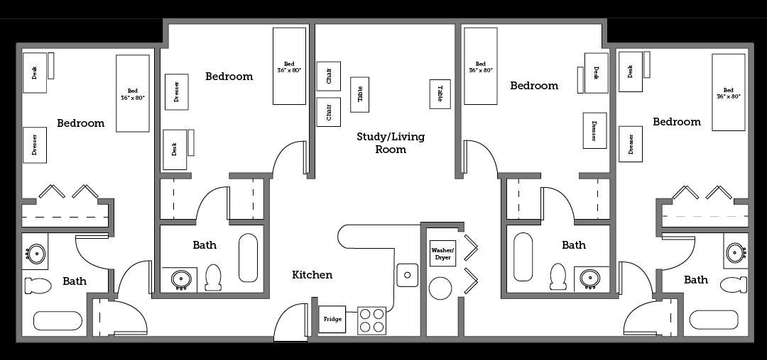 CNU Village four room layout