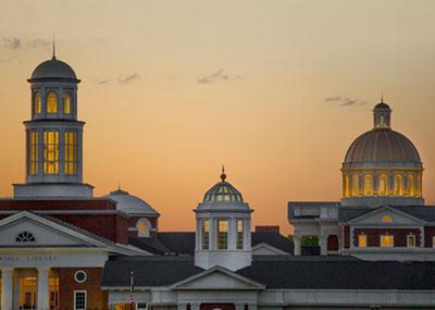 Cupolas at sunset