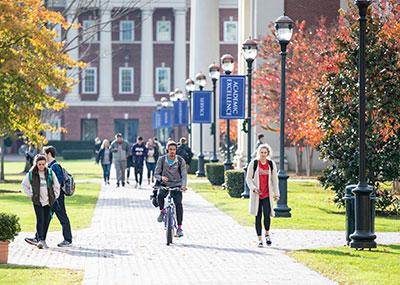 Students walking between classes