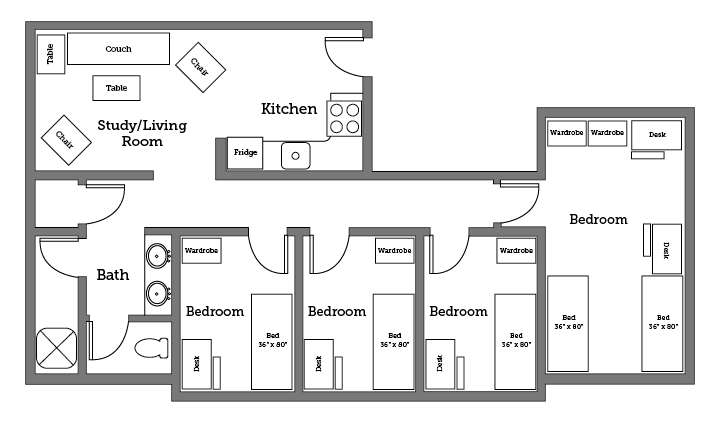 James River apartment layout