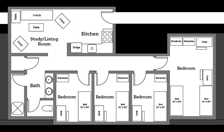 James River apartment layout
