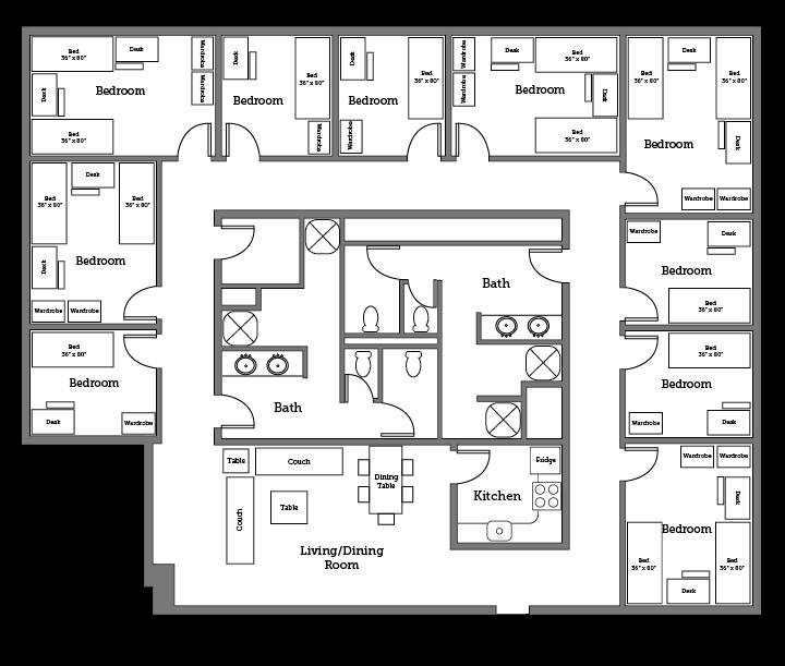 James River theme unit layout