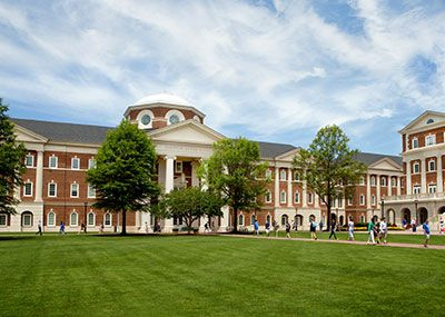 Luter Hall at class change