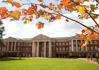 McMurran building in the fall