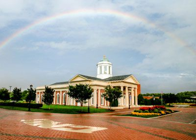 Rainbow over Pope Chapel
