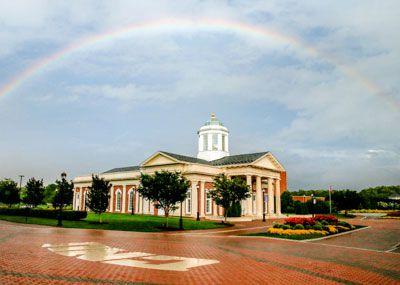 Rainbow over Pope Chapel