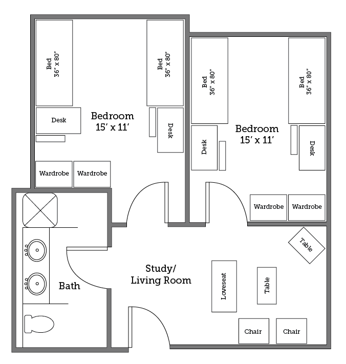 Potomac River suite layout