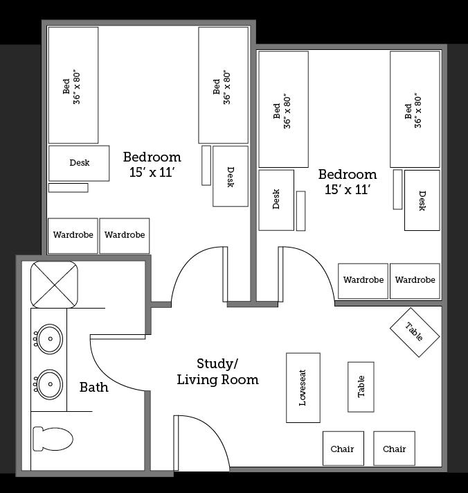 Potomac River suite layout