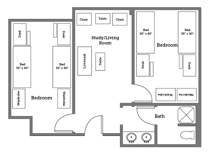 Warwick River four bed layout