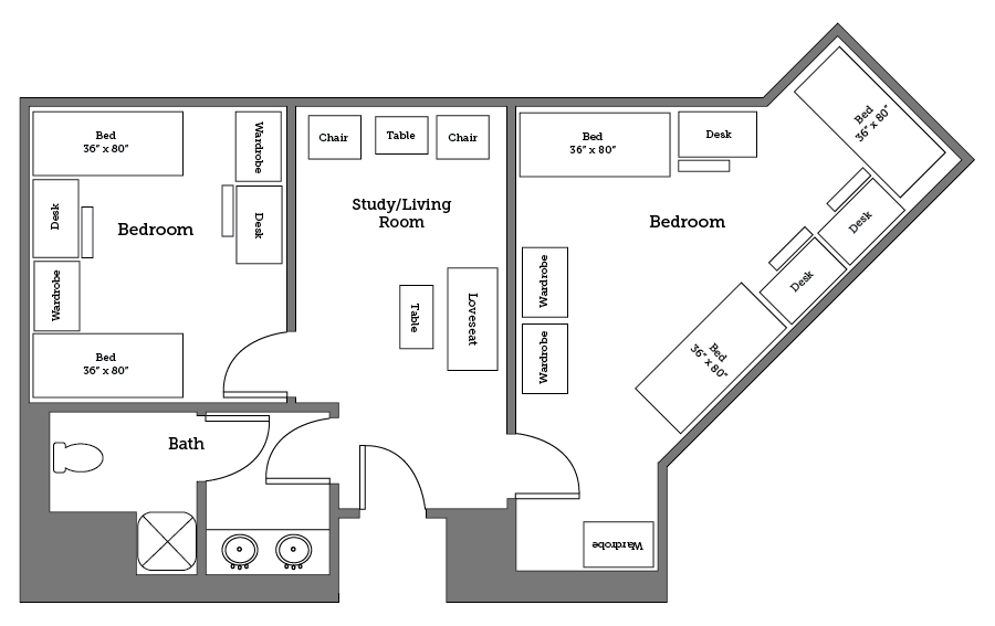Warwick River five bed layout