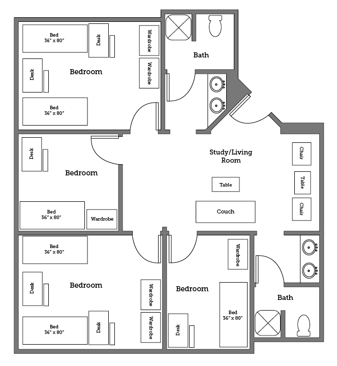 Warwick River six bed layout
