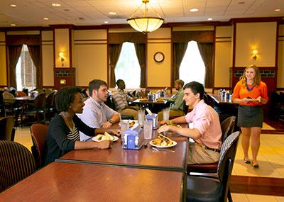 Dining in Regattas