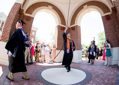 Bell ringing at Commencement