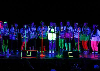 Glow in the Darcapella event
