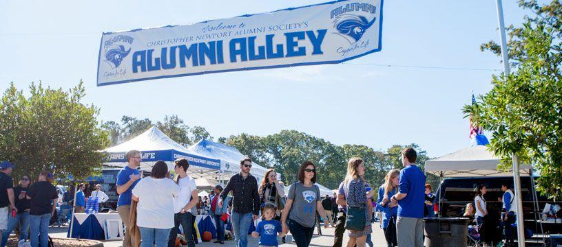 Alumni Alley Tailgate Zone
