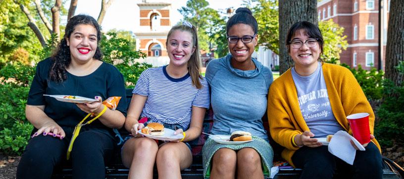 Students enjoying Kookout