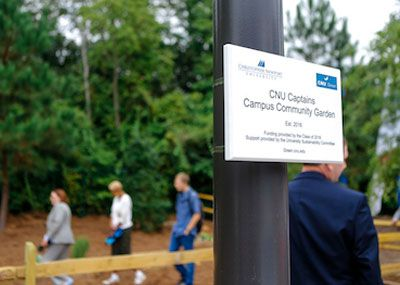 The CNU community now has a space on East Campus to garden.