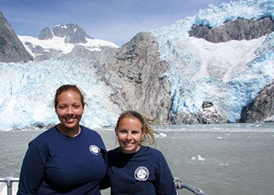 Ann Eckmann and Chenoa Payne in Alaska