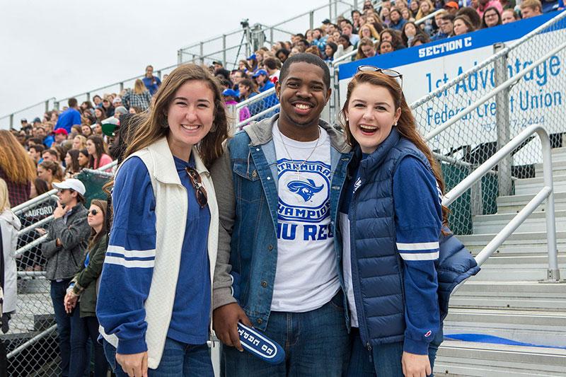 Students at CNU Homecoming football game