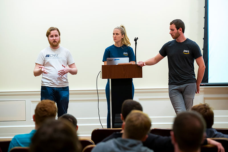 Left to right: Gerald McAlister, Jaimee Purcell, Adam Fendley