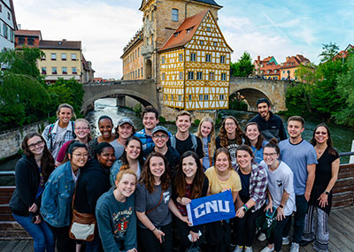 Christopher Newport students in Bamberg, Germany