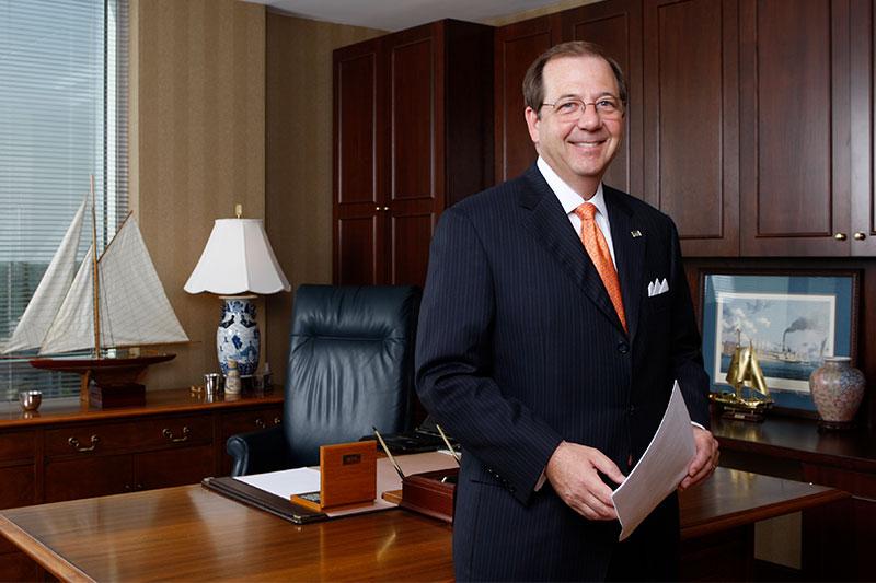 Alan Witt in his office