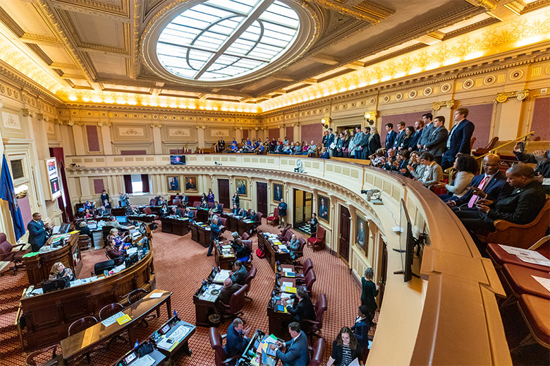 Students Are Recognized in the Virginia State Capitol