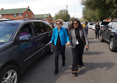 Alencia Johnson With Elizabeth Warren