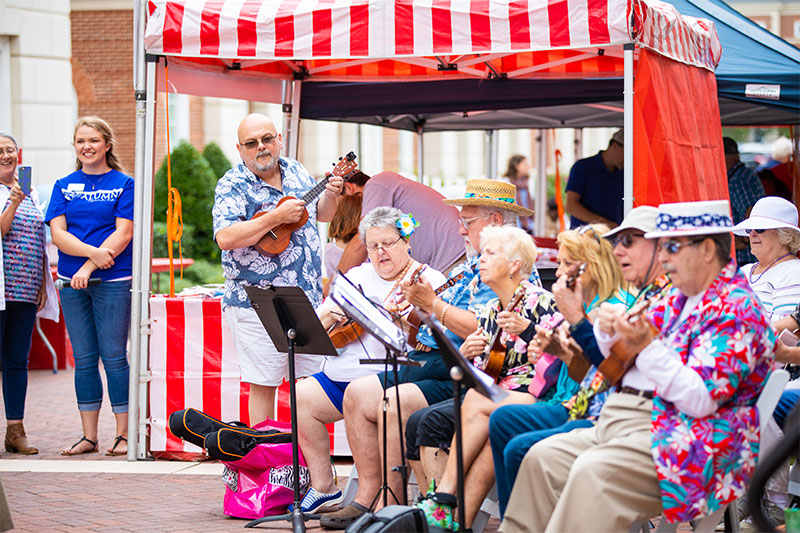 The Ukulearners perform at the 30th Anniversary Carnival