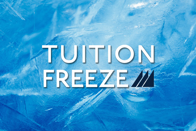 Tuition Freeze Graphic