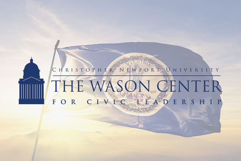 Wason Center logo and Virginia state flag