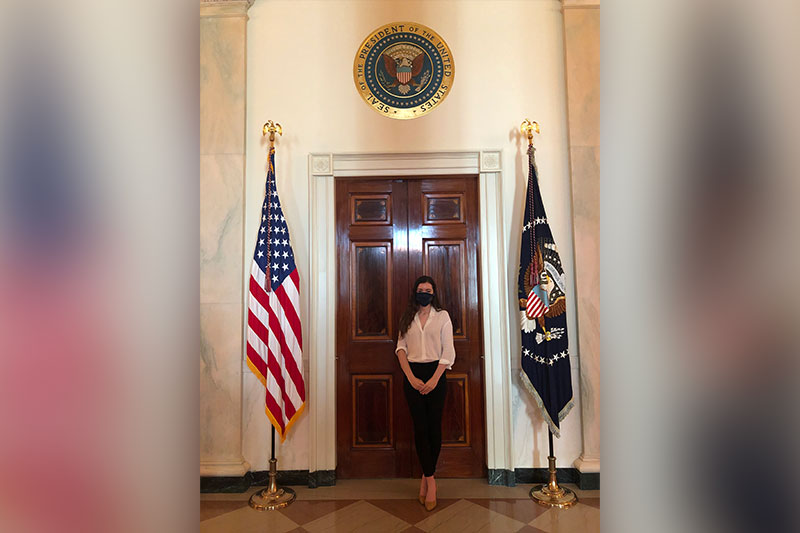 Kristen Ziccarelli in the White House