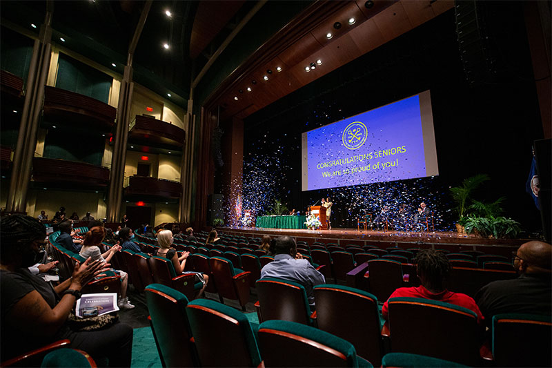 Community Captains are honored in a graduation ceremony in the Diamonstein Concert Hall