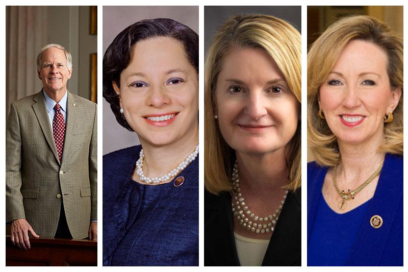 Left to right: Bill Mims, Jennifer McClellan, Molly Ward, Barbara Comstock