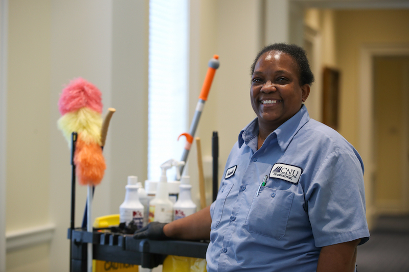 photo of a CNU housekeeper