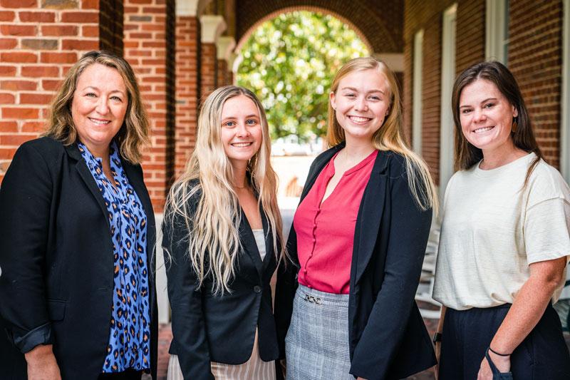 Photograph of Vanessa Buehlman, Tracy Johnson, Adalynn Eller, Brook Covington (from left to right)