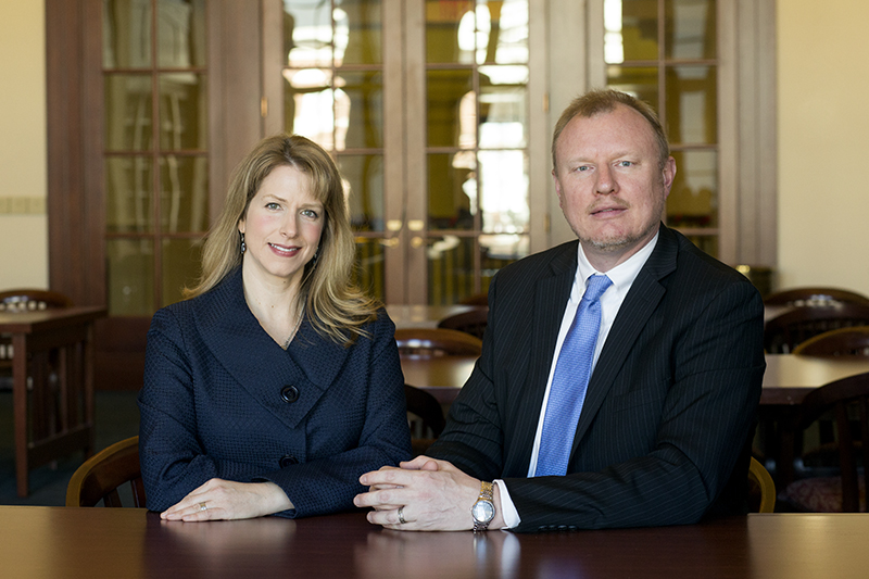 Sheri Shuck-Hall (left) and Thomas Hall