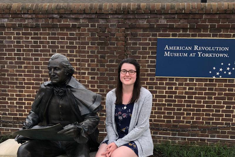 Lauren Washburn at the American Revolution Museum at Yorktown