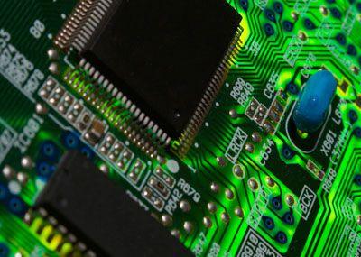 Close up circuitboard