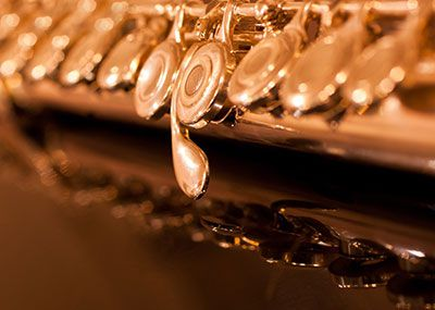 Flute closeup