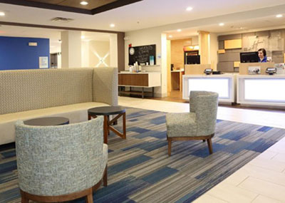 Holiday Inn Express interior lobby