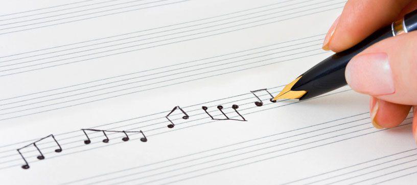 music pen hand sheet written exam muziekblad kseeb composing met writing notes craft timetable 9ths dance write education minor insidesources